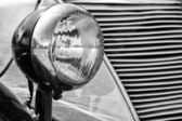 Headlamp car Ford Eifel, (black and white) — Stock Photo