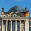 The Reichstag building, a famous historic building in Berlin. Germany. — Stock Photo #41033637
