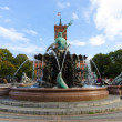Stock Photo: The Neptune Fountain in Berlin was built in 1891 and was designed by Reinhold Begas