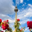 Постер, плакат: The Fernsehturm Berlin TV Tower is a television tower in central Berlin