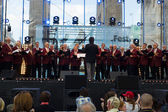 Choir near the Brandenburg Gate. The Day of German Unity is the national day of Germany — Stock Photo