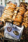 Selling fresh bagels. — Stock Photo