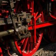 The wheels of the locomotive. — Stock Photo