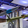 Stock Photo: ILBerlin Air Show 2012. Stand of Diehl Defence