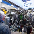 ILBerlin Air Show 2012. Stand of MTU Aero Engines AG - is Germaircraft engine manufacturer. — Stock Photo #41218349