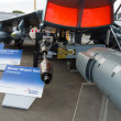 Stock Photo: ILBerlin Air Show 2012. Samples weapons multipurpose fighter Eurofighter Typhoon