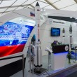 Stock Photo: ILBerlin Air Show 2012. Stand RussiFederal Space Agency. Roscosmos. Heavy class launch vehicle - Proton.