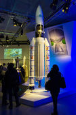 ILA Berlin Air Show 2012. Spaceship model Ariane 5 — Stock Photo