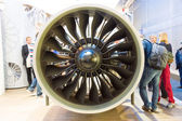 ILA Berlin Air Show 2012. Stand of MTU Aero Engines AG - is a German aircraft engine manufacturer. — Stock Photo