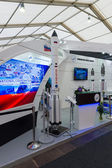ILA Berlin Air Show 2012. Stand Russian Federal Space Agency. Roscosmos. Heavy class launch vehicle - Proton. — Stock Photo