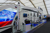 ILA Berlin Air Show 2012. Stand Russian Federal Space Agency. Roscosmos. Heavy class launch vehicles - Proton and Angara — Stock Photo
