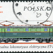 Stock Photo: Postage stamp printed in Poland, shows Polish electric locomotive ET-22, 1969