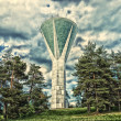 Stock Photo: LAHTI, FINLAND - JUNE 10: unusual water tower. HDRi. Toning.