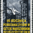 Stock Photo: POLAND - CIRC1993: Postage stamp printed in Poland devoted to 50th anniversary of Warsaw Ghetto Uprising, circ1993