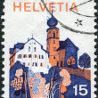 SWITZERLAND - CIRCA 1973: Postage stamp printed in Switzerland, shows Werthenstein is a municipality in the district of Entlebuch in the canton of Lucerne, circa 1973 — Stock Photo