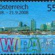 Stock Photo: AUSTRI- CIRC2008: Postage stamp printed in Austria, dedicated to ViennInternational Stamps Exhibition (WIPA), circ2008