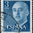 SPAIN-CIRCA 1955: A stamp printed in the Spain, shows Gen. Francisco Franco, circa 1955 — Stock Photo