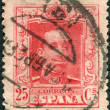SPAIN - CIRCA 1922: Postage stamp printed in Spain, shows King Alfonso XIII, circa 1922 — Stock Photo
