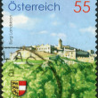 Stock Photo: AUSTRI- CIRC2009: Postage stamp printed in Austria, shows Europehare (Lepus europaeus), circ2009