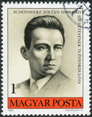 Postage stamp printed in Hungary, portrait Schnoeherz Zoltan, anti-fascist martyr — Stock Photo