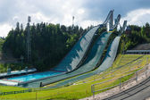 LAHTI, FINLAND - JUNE 10: The symbol of the city, ski jump Salpausselka, venue for international sports competitions, June 10, 2013 in Lahti, Finland — Stock Photo