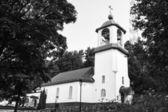 LAHTI, FINLAND - JUNE 10: Holy Trinity Church. The Orthodox Church, (black and white), June 10, 2013 in Lahti, Finland — Stok fotoğraf