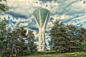 LAHTI, FINLAND - JUNE 10: An unusual water tower. HDRi. Toning.  — Stock Photo