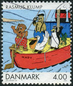 DENMARK - CIRCA 2002: Postage stamp printed in Denmark, Comics and Cartoons Issue, shows Rasmus Klump, by Vilhelm Hansen, circa 2002 — Stock Photo