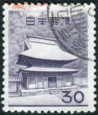 JAPAN - CIRCA 1962: Postage stamp printed in Japan, shows a Buddhist temple complex Shari-den of Engakuji, circa 1962 — Stock Photo