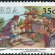 Stock Photo: Postage stamp printed in South Africa, devoted to Stamp day, shows Post stone - Letters for Europe or India