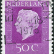 Postage stamp printed in the Netherlands, shows Queen Juliana — Stock Photo #42135701