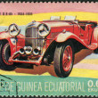 Stock Photo: Postage stamp printed in Equatorial Guinea, shows oldtimer Delage D8-85