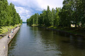 Vaaksy Canal - an important transportation channel that connects Lake Vesijarvi and largest lake Paijanne — Stock Photo