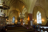 The interior of the oldest medieval stone church St. Mary in Hollola — Stock Photo
