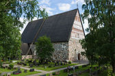 Old medieval stone church of St. Mary in Hollola — Stock Photo