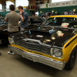 ������, ������: PAAREN IM GLIEN GERMANY MAY 19: The two door coupe Plymouth Duster 1975 The oldtimer show in MAFZ May 19 2013 in Paaren im Glien Germany