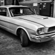 Постер, плакат: Muscle car Ford Mustang Hardtop Coupe black and white