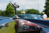 """The famous emblem """"Spirit of Ecstasy"""" on a Rolls-Royce Corniche, The oldtimer show in MAFZ, May 19, 2013 in Paaren im Glien, Germany — Stock Photo"""