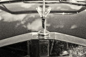 """PAAREN IM GLIEN, GERMANY - MAY 19: The famous emblem """"Spirit of Ecstasy"""" on a Rolls-Royce Corniche, sepia, The oldtimer show in MAFZ, May 19, 2013 in Paaren im Glien, Germany — Stock Photo"""