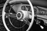 Cab car Borgward Hansa 2400 Sport, black and white — Stock Photo