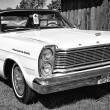 Full-size car Ford Galaxie 500 2-door hardtop (Third generation), black and white — Stock Photo