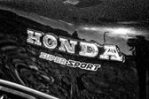 Emblem Superbike Honda CBX, black and white — Stock Photo
