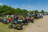 Various motorcycle at the exhibition — Stok fotoğraf