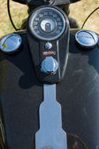 The dashboard and fuel tank motorcycle Harley Davidson — Foto de Stock