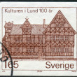 Postage stamp printed in Sweden, shows Museum Lund — Stock Photo #42991379