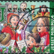 Postage stamp printed in Jersey (Crown dependencies of the British Crown), Christmas Issue, shows children sing Christmas songs — Stock Photo #42991423