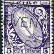 Postage stamp printed in Ireland, shows the Sword of Light — Stock Photo