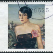 Postage stamp printed in Germany, Paintings 20th century, shows Maika, by Christian Schad — Stock Photo