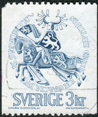 Postage stamp printed in Sweden, shows the Seal of Duke Erik Magnusson — Stock Photo