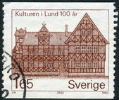 Postage stamp printed in Sweden, shows Museum Lund — Stock Photo